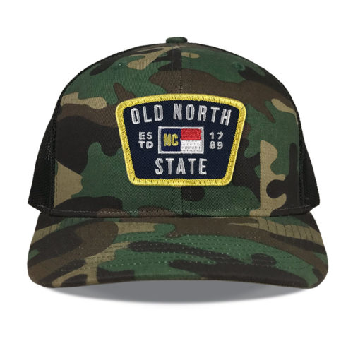 Richardson-112-camo-trucker-old-north-state-patch-hat