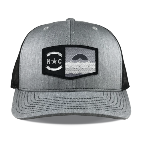 Richardson-112-heather-black-snapback-trucker-north-carolina-beach-patch