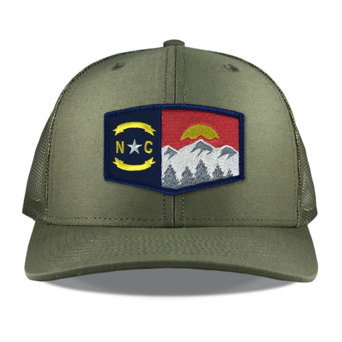 Richardson-112-loden-snapback-trucker-north-carolina-mountains-embroidered-patch