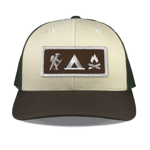 Richardson-115-tan-loden-brown-snapback-trucker-hiking-camping-patch-hat
