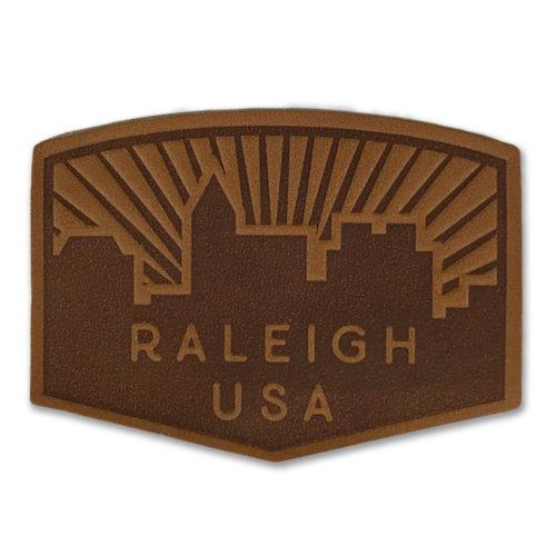 north-carolina-raleigh-skyline-leather-patch