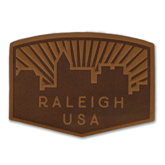 north-carolina-raleigh-skyline-leather-patch