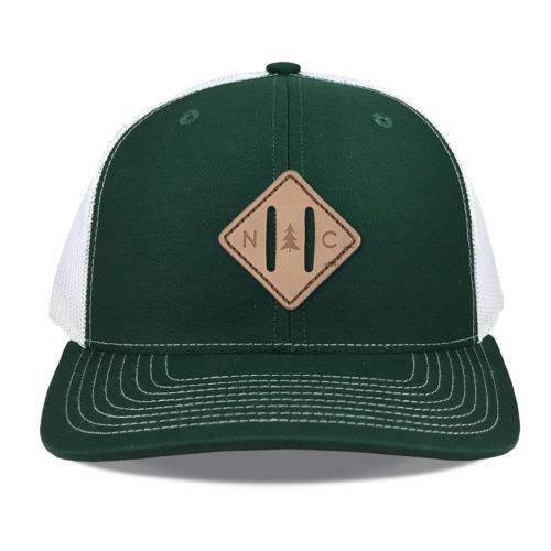 richardson-112-green-white-leather-strap-patch