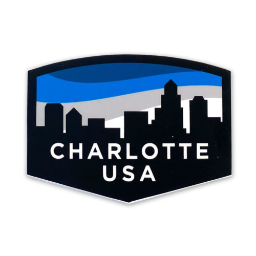 old-east-charlotte-skyline-sticker