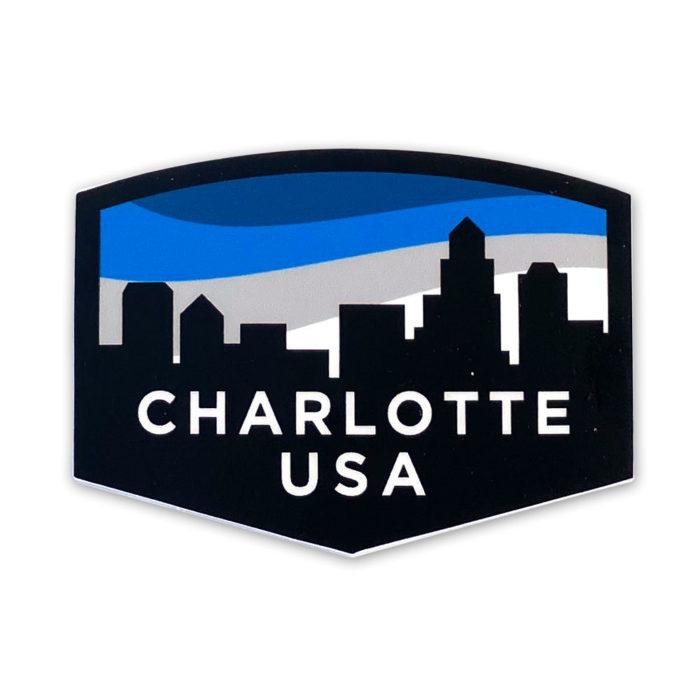 old-east-charlotte-skyline-sticker