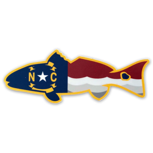 old-east-redfish-flag-sticker