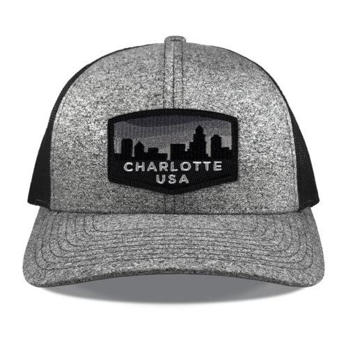 richardson-115-heather-black-charlotte-blackout-patch-hat