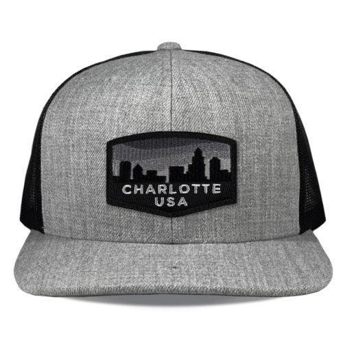 richardson-511-heather-black-charlotte-blackout-patch-hat