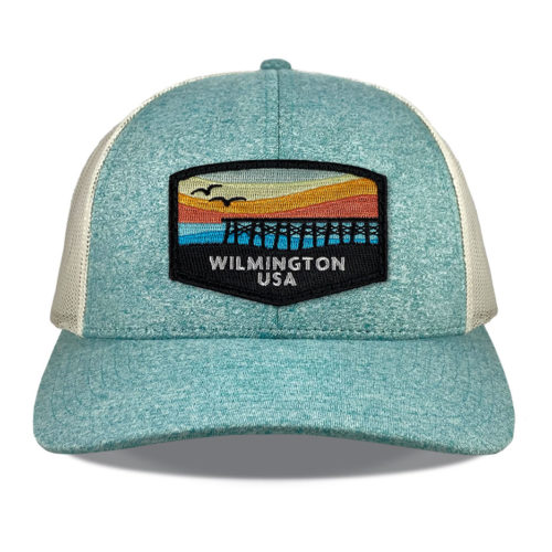 richardson-115-green-teal-heather-wilmington-coast-patch-hat